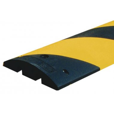 Ralentisseur 1 pièce en caoutchouc noir et jaune