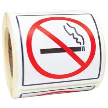 "Autocollants en rouleau ""Interdiction de fumer"""