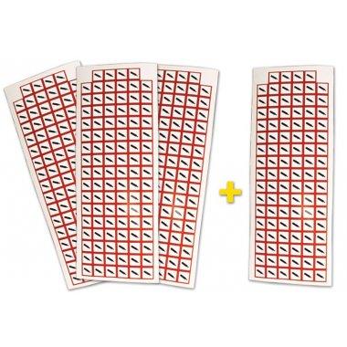 """Lot de 4 planches de pictogrammes CLP """"Gaz sous pression"""" (3+1 gratuite)"""