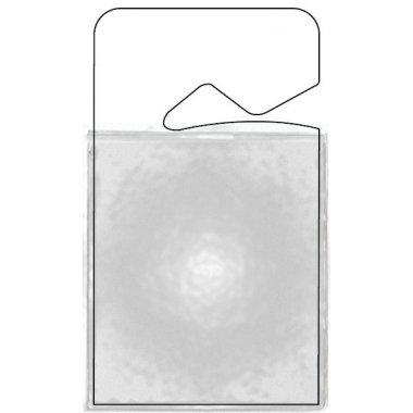 Badges parking en plastique transparent, à suspendre au rétroviseur