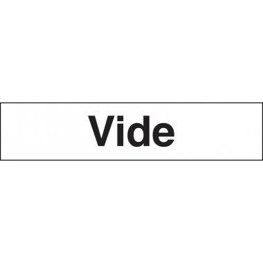"Marqueurs de tuyauteries adhésifs transparent  ""Vide"" (Gaz)"