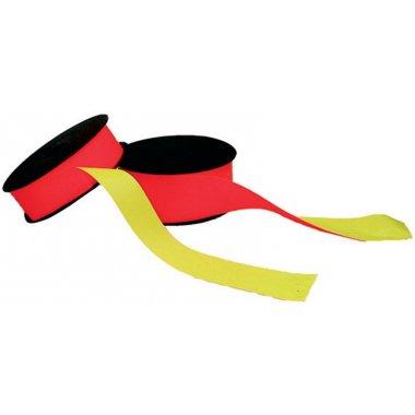 Rubans de signalisation fluorescents rouge et jaune