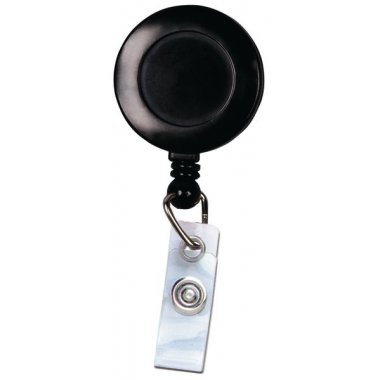Enrouleur zip porte-badge, avec pince clip tournante