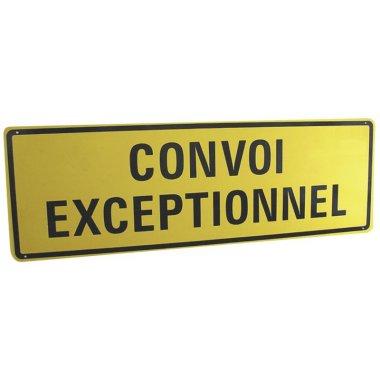 Panneau réglementaire magnétique Convoi exceptionnel avec texte sur 2 lignes
