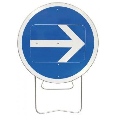 """Panneau de signalisation temporaire sur pied """"Flèche directionnelle orientable"""""""