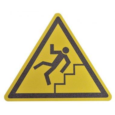 """Pictogramme antidérapant au sol """"Danger escaliers"""""""