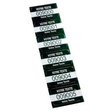 Etiquettes de sécurité en aluminium anodisé
