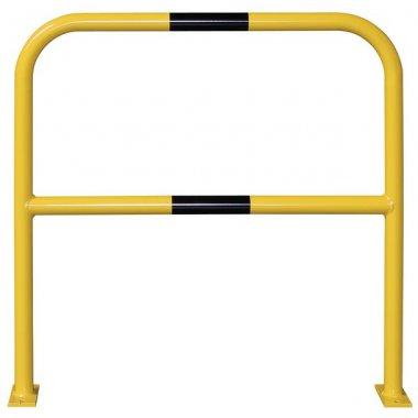 Barrière de protection en acier avec traverse horizontale