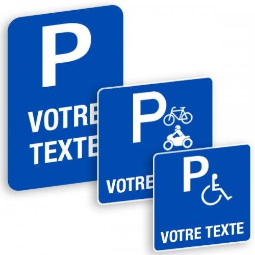 Panneaux  de signalisation « Places de parking » à personnaliser