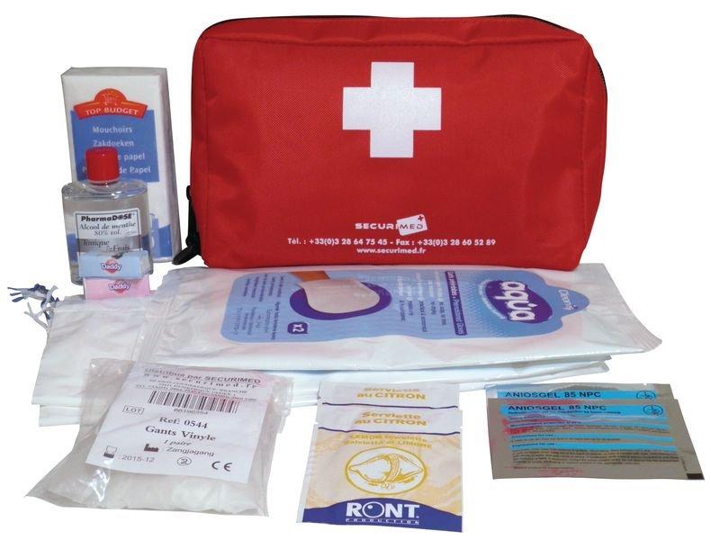 Trousse de secours pour voyageur malade