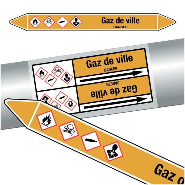 Marqueurs de tuyauteries clp gaz de ville gaz seton fr for Gaz de ville prix