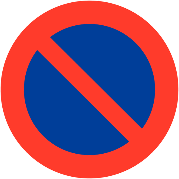Panneaux interdiction de stationner en aluminium | Seton FR