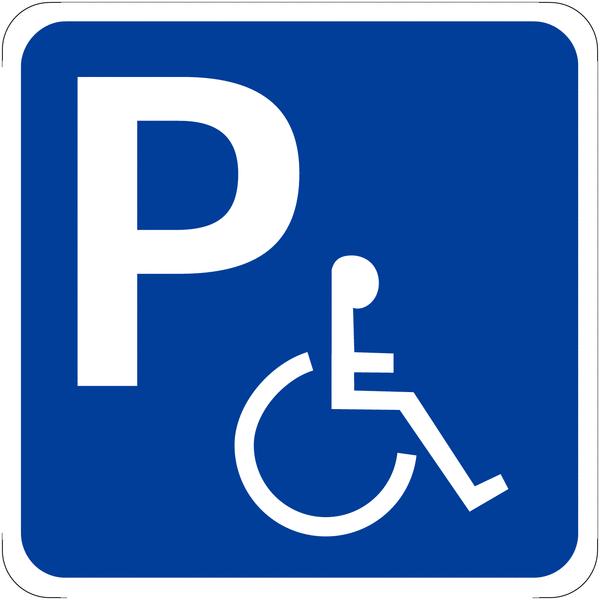 panneaux avec symbole handicap bleu place de parking seton fr. Black Bedroom Furniture Sets. Home Design Ideas
