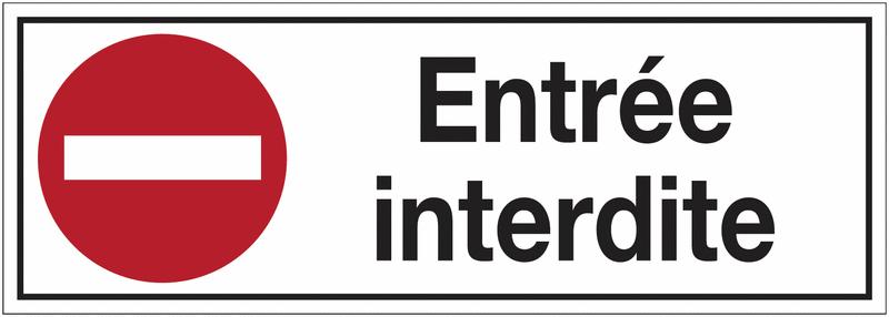 panneaux d 39 interdiction rectangulaires sens interdit entr e interdite seton fr. Black Bedroom Furniture Sets. Home Design Ideas