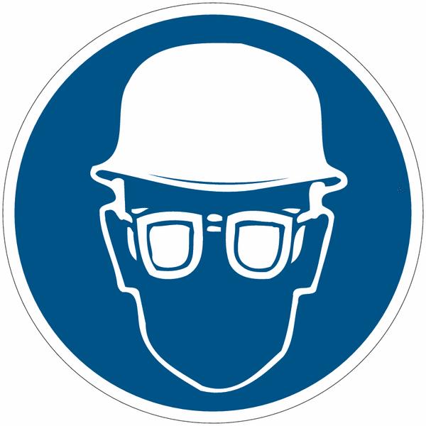 Panneaux d 39 obligation casque et lunettes de s curit - Port des lunettes de securite obligatoire ...