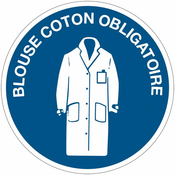 panneaux dobligation quotblouse de coton obligatoirequot seton fr