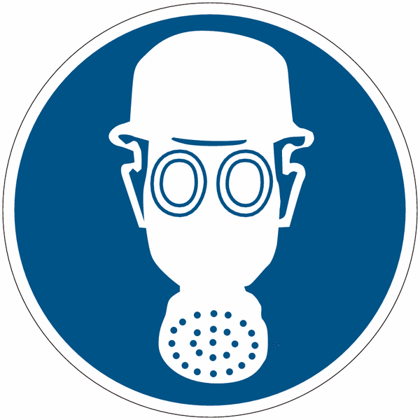 Mini pictogrammes casque et masque respiratoire - Pictogramme port du masque obligatoire ...