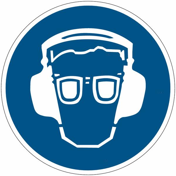 Mini pictogramme lunettes et casque antibruit - Pictogramme port du masque obligatoire ...