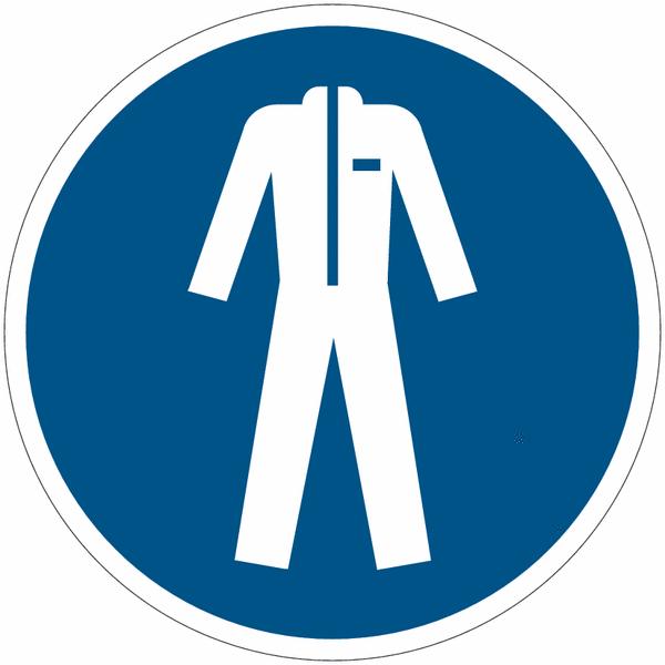 Pictogramme iso 7010 en rouleau v tements de protection - Symbole de protection ...