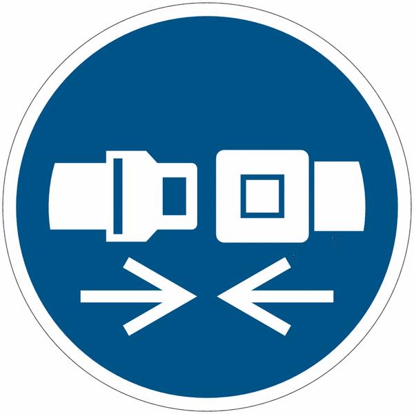 Pictogramme iso 7010 en rouleau attacher la ceinture de s curit m020 seton fr - Port de la ceinture obligatoire ...