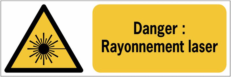 panneaux iso 7010 horizontaux danger rayonnement laser w004 seton fr. Black Bedroom Furniture Sets. Home Design Ideas