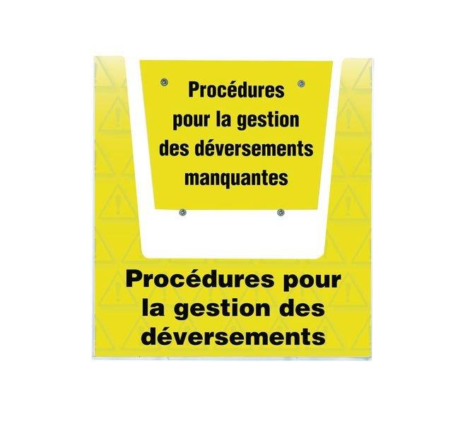Porte-documents mural - Procédures pour la gestion des déversements