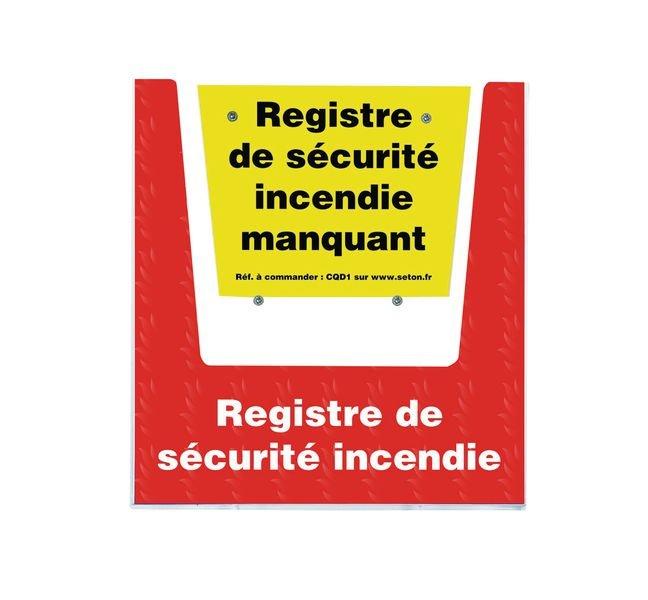 Porte-documents mural - Registre de sécurité incendie