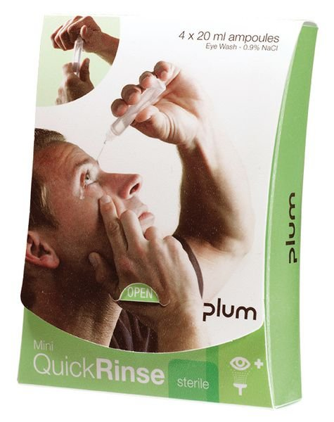 Flacons de lavage oculaire QuickRinse Mini