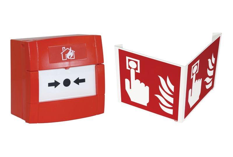 Kit déclencheur manuel d'alarme secteur avec signalisation 3D