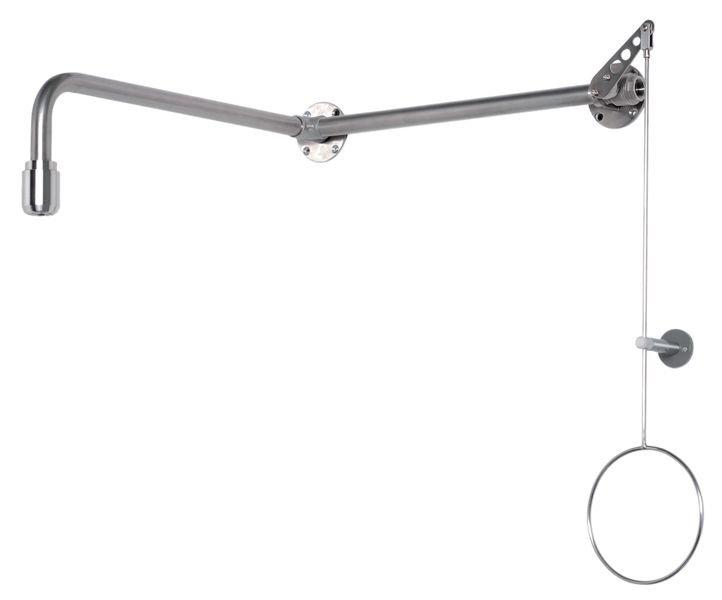 Douche de sécurité avec tuyau apparent pour laboratoire | Seton FR