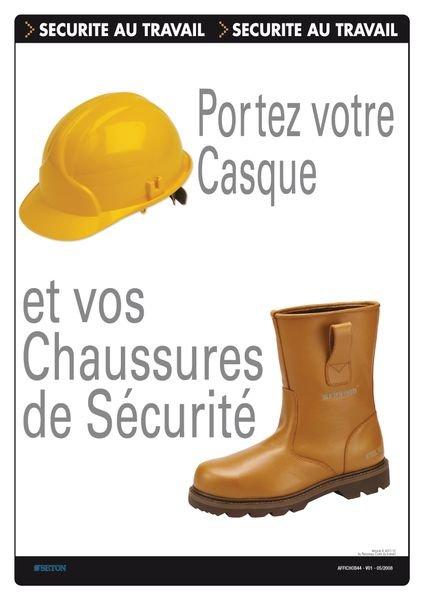 Affiche - Portez votre casque et vos chaussures de sécurité
