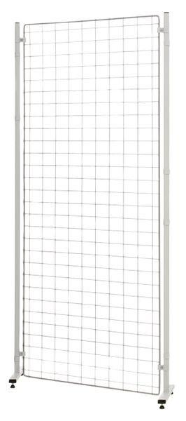 Grille d'exposition modulable avec tableau blanc et tableau liège