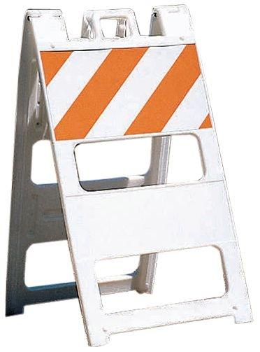 Chevalets de signalisation de travaux à bandes réfléchissantes