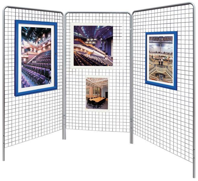 Grille d'exposition modulable