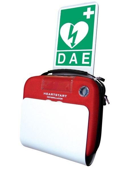 Pack défibrillateur HeartStart HS1 complet avec signalétique et support