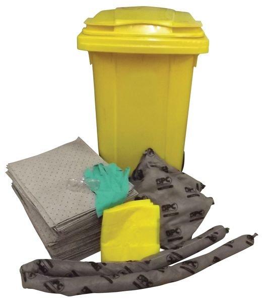 Kits absorbants pour tous liquides en conteneur et chariot