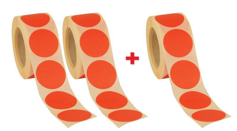 Lot de 3 rouleaux de pastilles vierges Ø 35 mm (2+1 gratuit)