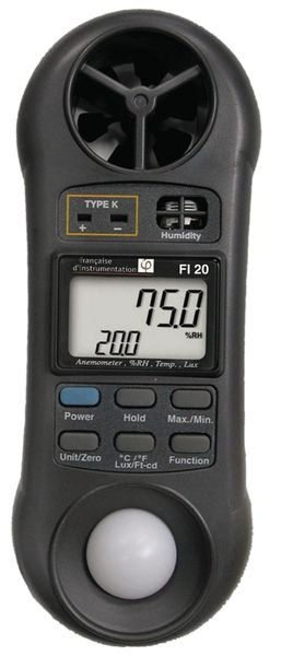 Luxmètre/ Thermomètre/ Hygromètre/ Anémomètre