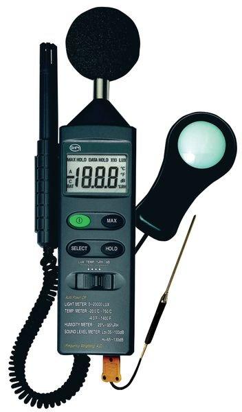 Sonomètre/ Luxmètre/ Thermomètre/ Hygromètre