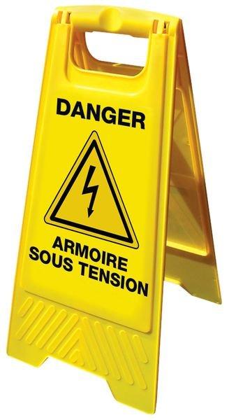 Balise de signalisation grande stabilité danger armoire sous tension