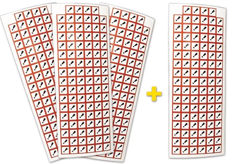 """Lot de 4 planches de pictogrammes CLP """"Toxicité aiguë catégorie 4"""" (3+1 gratuite)"""