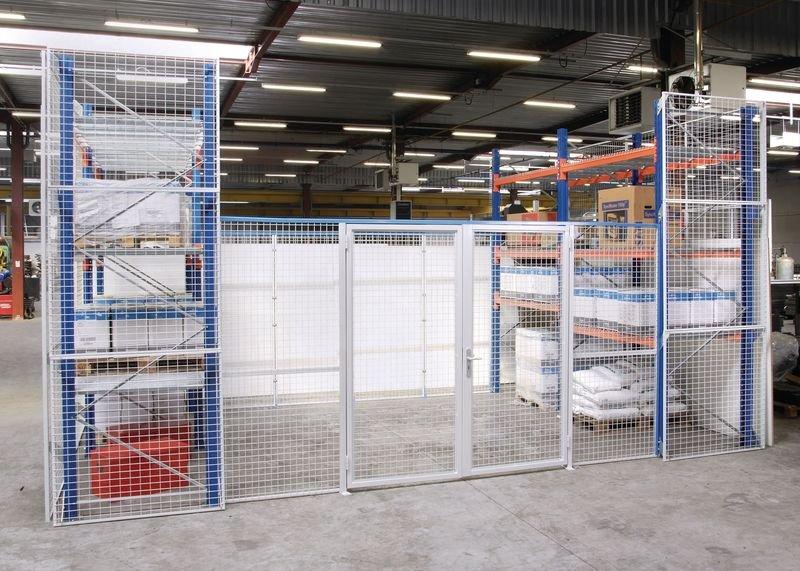 Portes grillagées pour construction d'un espace de stockage sécurisé