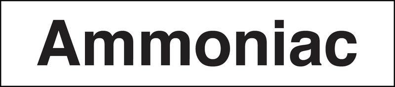 "Marqueurs de tuyauteries adhésifs transparent  ""Ammoniac"" (Gaz)"