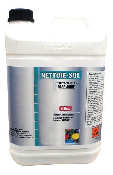 Nettoyant pour sol à base d'acide pour préparation des peintures