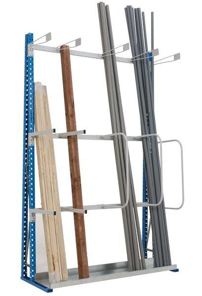 Rayonnage pour stockage vertical de charges longues
