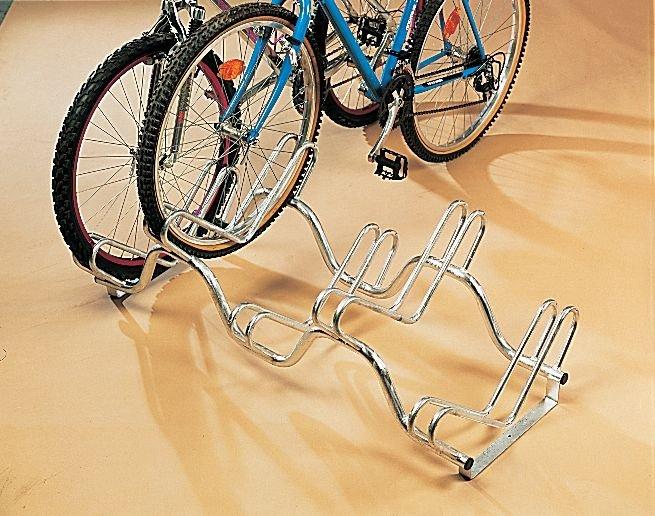 Range vélos au sol sur 2 niveaux