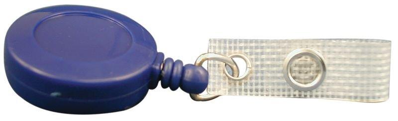 Enrouleur zip porte-badge, en plastique avec pince ceinture métallique