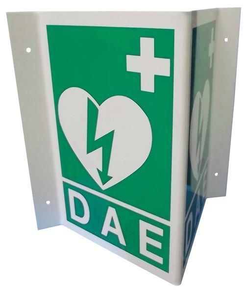 """Panneaux de signalisation pour """"Défibrillateur automatique externe pour le cœur"""""""