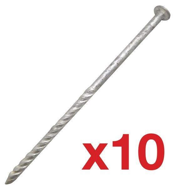 Lot de 10 clous de fixation pour clous de voirie (8+2 gratuits)