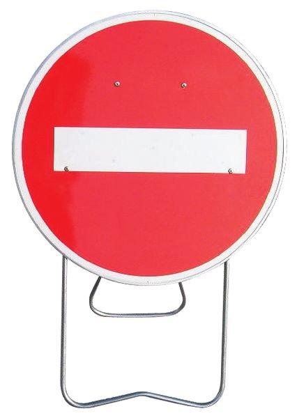 """Panneau de signalisation temporaire sur pied """"Sens interdit"""""""
